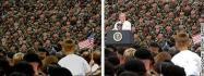 Март 2004… Снова предвыборная кампания в США. Солдаты на левой фотографии скопированы…